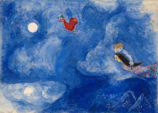 Maquette de décor : Aleko et Zemphira au clair de lune (Aleko scène I)
