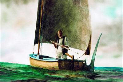 Dessin Le Vieil homme et La Mer
